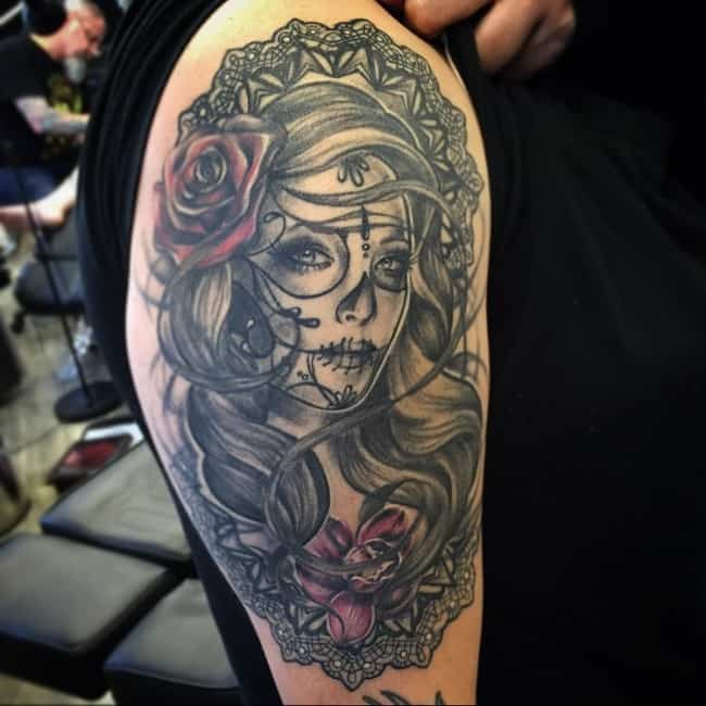 150 Meaningful Day Of The Dead Tattoos February 2019