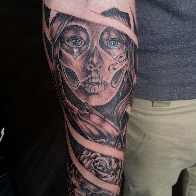 150 Meaningful Day Of The Dead Tattoos January 2019