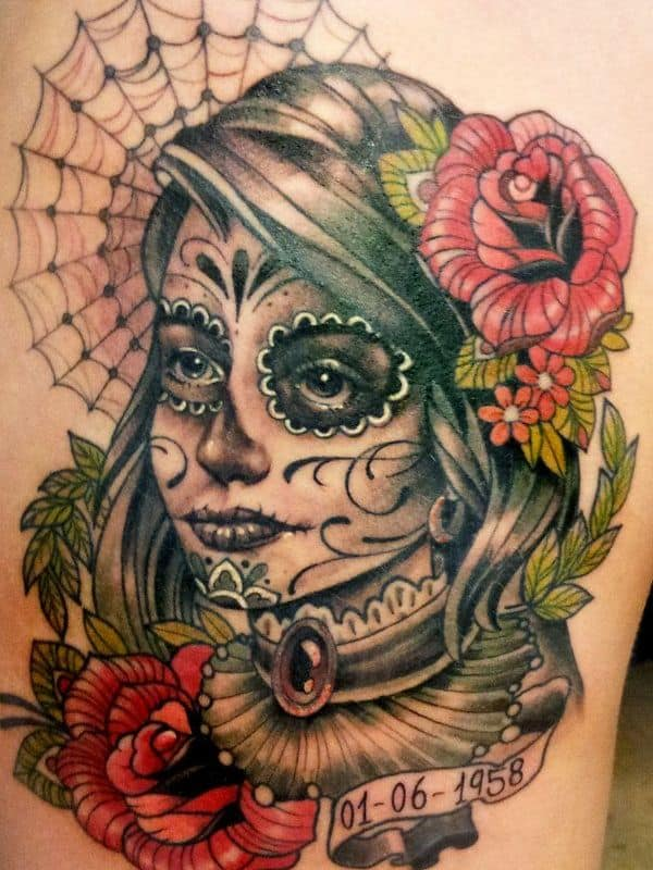 lady of the dead tattoo