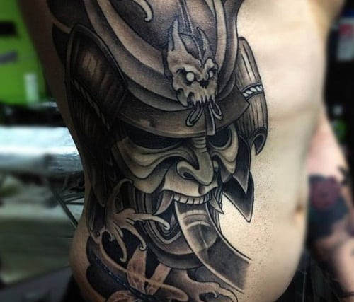 Detailed Samurai Tattoo