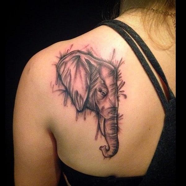 Elephant Tattoo On Hand