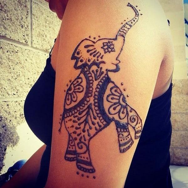 Elephant Tattoo On Legs
