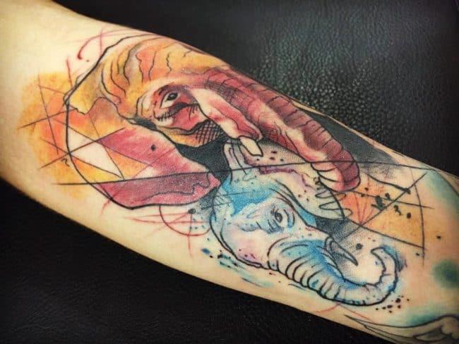 elephant tattoo26