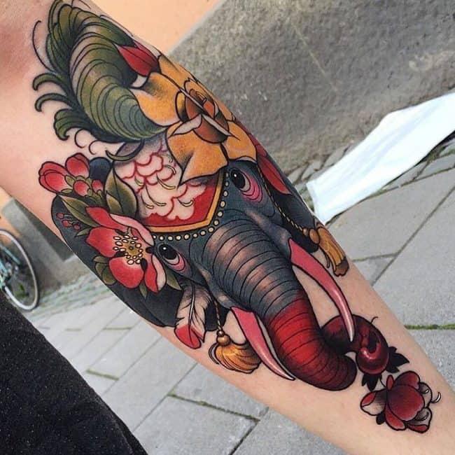 elephant tattoo70