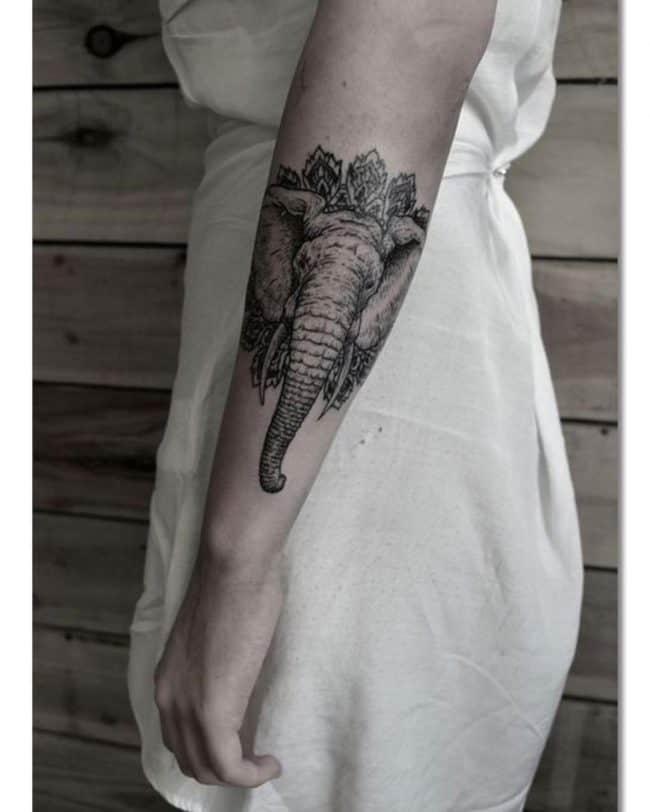 elephant tattoo75