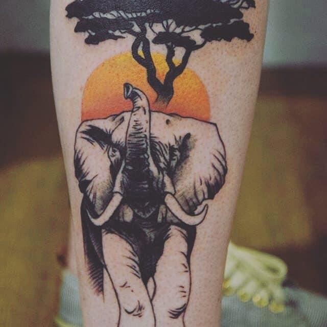 elephant tattoo8