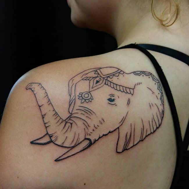 elephant tattoo90