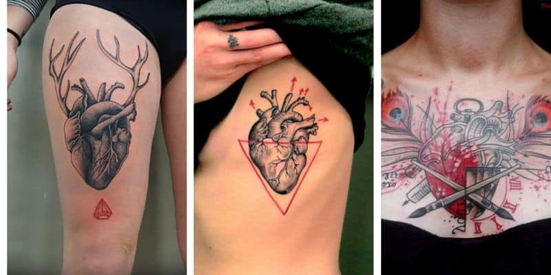 100 Lovely Heart Tattoos And Meanings August 2018
