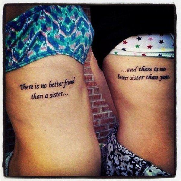 Inspiring Sister Tattoo