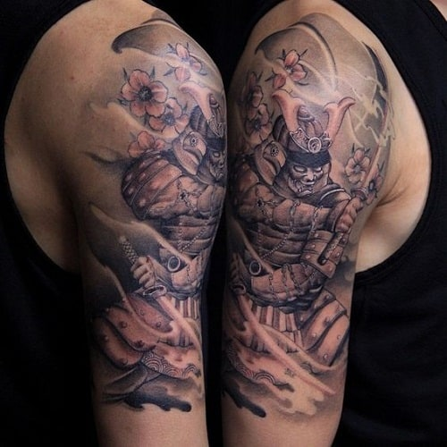 Japanese Half Sleeve Samuurai Tattoo