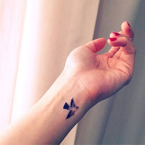 Little Bird Tattoo on Wrist