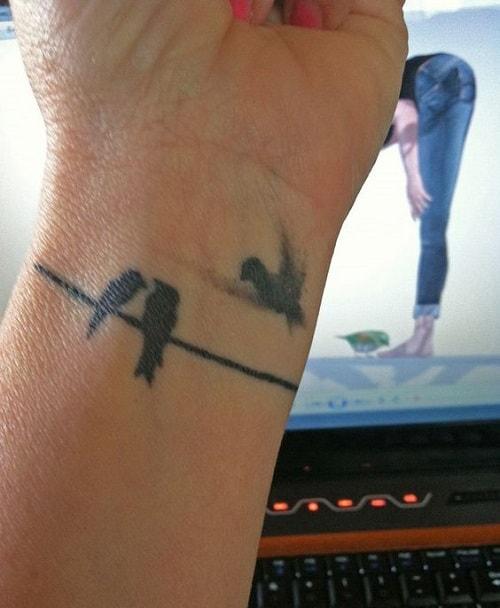 Lovebirds Tattoo on Wrist