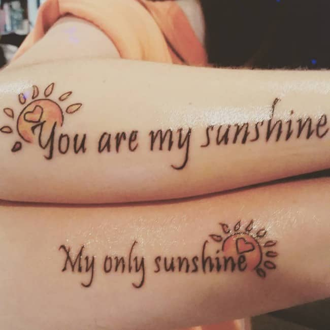 150 Adorable Mother Daughter Tattoos Ideas (August 2018)
