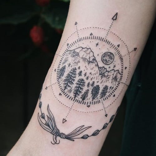Mirror Tattoo Designs Ideas And Meaning: 160+ Best Compass Tattoos And Meanings (May 2018)