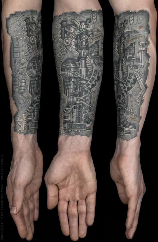 3780d3f99 150 Creative Biomechanical Tattoos (Ultimate Guide, July 2019)