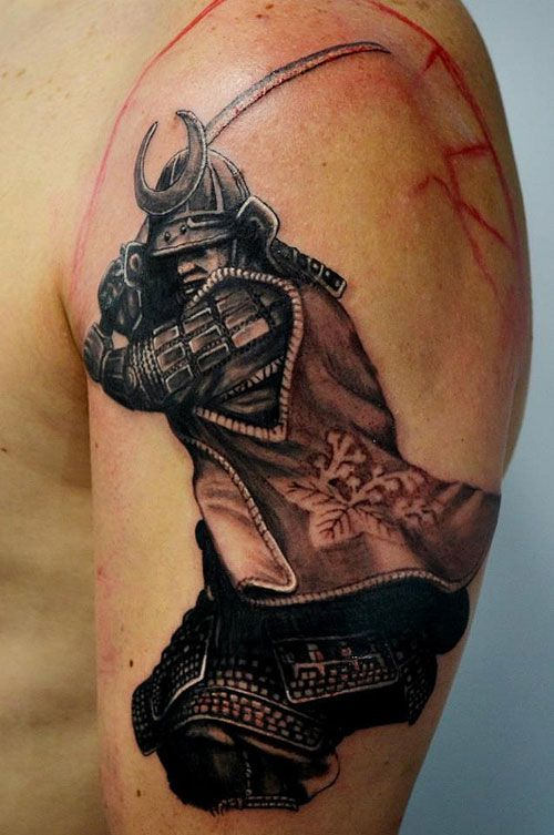 Samurai And Skull Tattoo