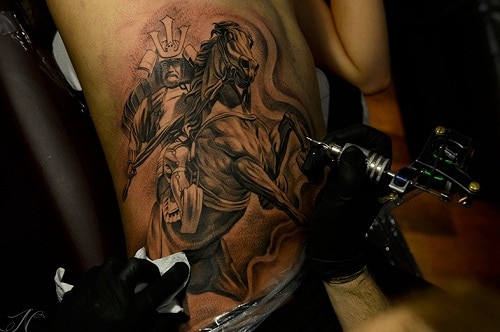 Samurai Riding Horse Tattoo