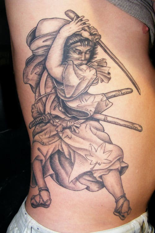 Samurai Side Tattoo