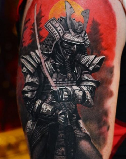 100 brave samurai tattoo designs and meanings april 2018 for Embossed tattoo designs