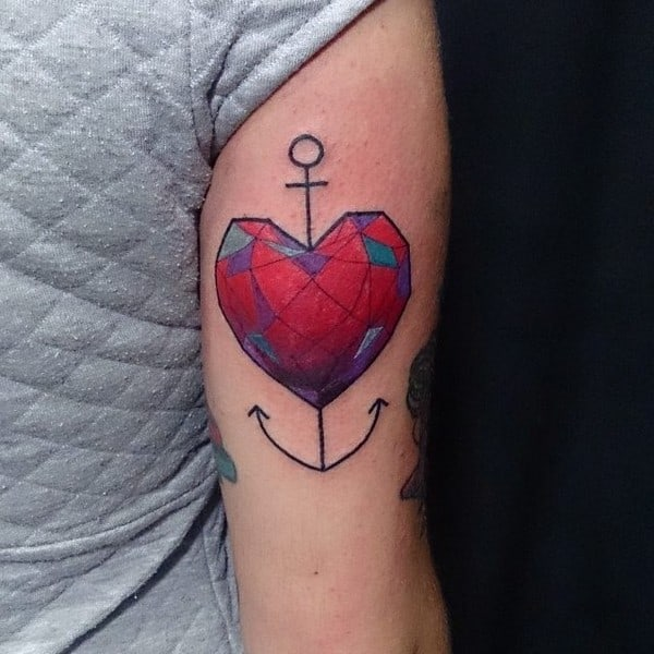 Small Simple Heart Tattoos