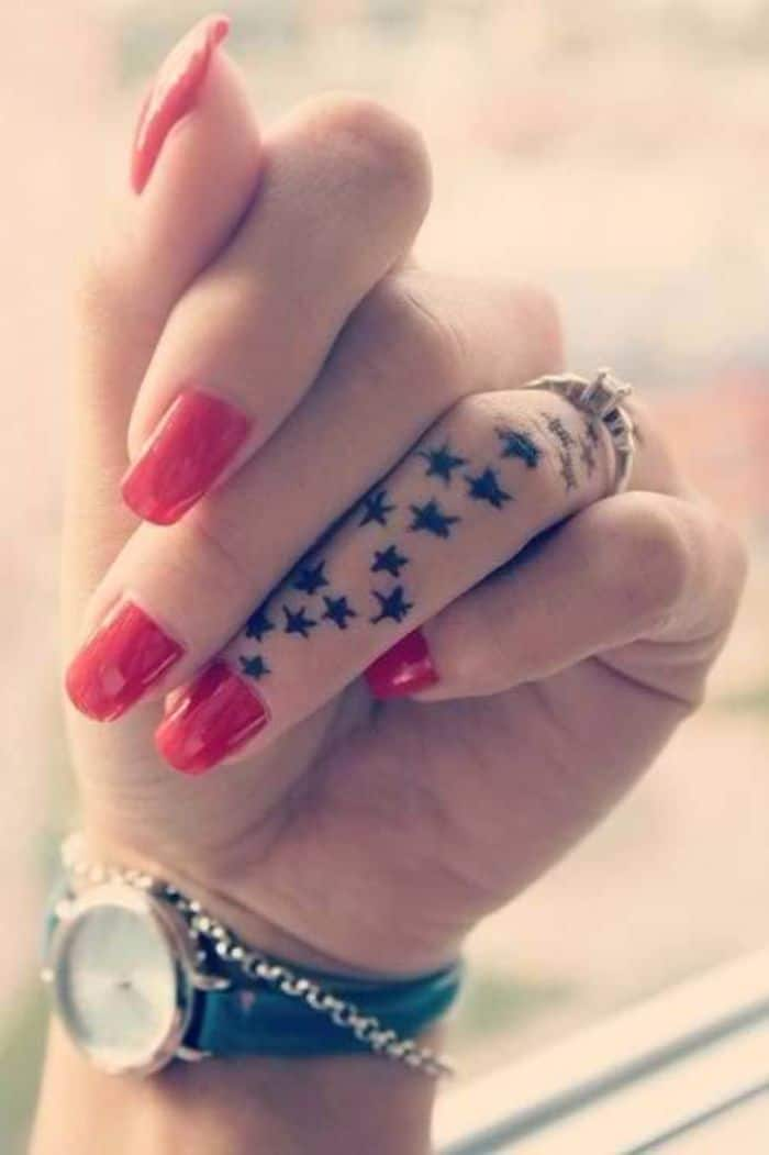 Female Star Tattoos Ideas