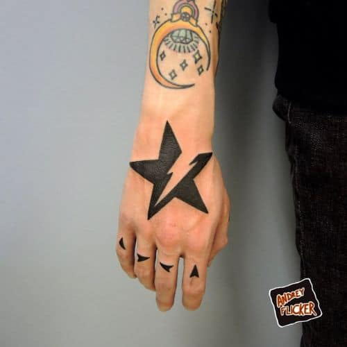 Star Tattoos For Mens Arm