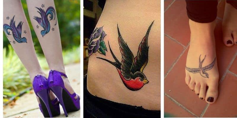 Tattoo Swallow Leg