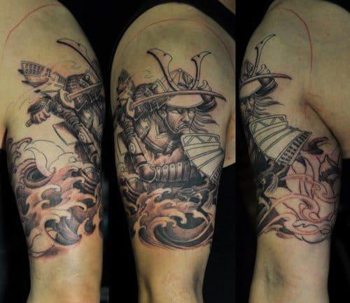 Unfinished Samurai Tattoo