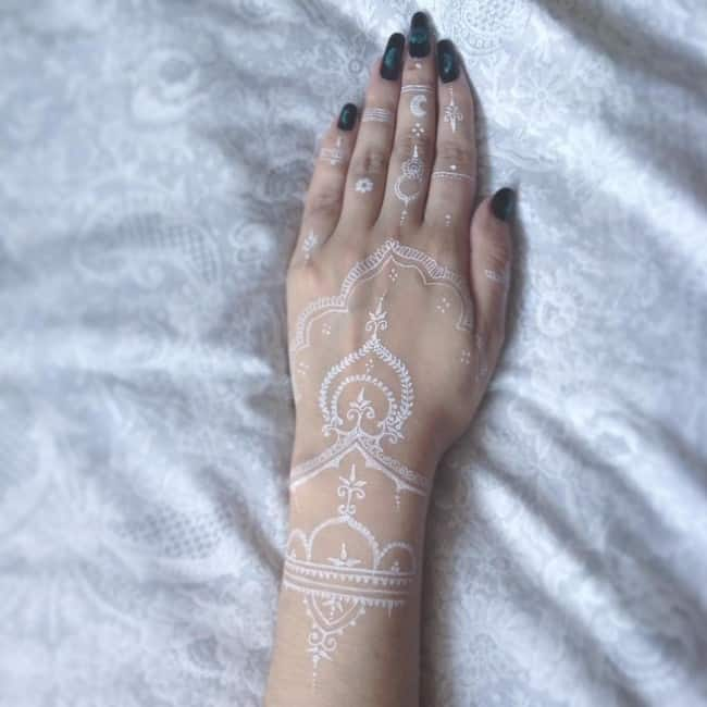 white tattoo