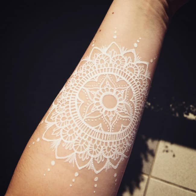 150 Most Beautiful White Ink Tattoos Ideas (February 2018)