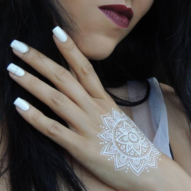 c441fe427 150 White Ink Tattoos Ideas (Ultimate Guide, July 2019)