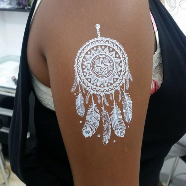 Black Tattoo With White Ink: 150 White Ink Tattoos Ideas (Ultimate Guide, June 2020