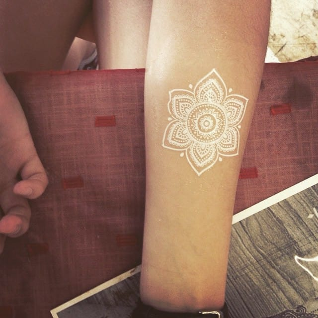 150 most beautiful white ink tattoos ideas may 2018 for Fresh white ink tattoo