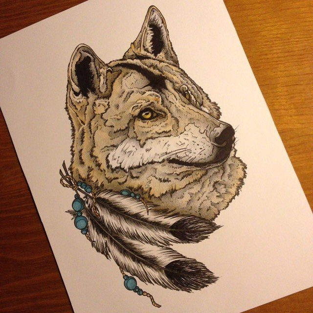 12cd506f9 Most of the animal tattoos are done in realistic designs, while some other  are framed in water colors, and wolf tattoos are no exception to this rule.