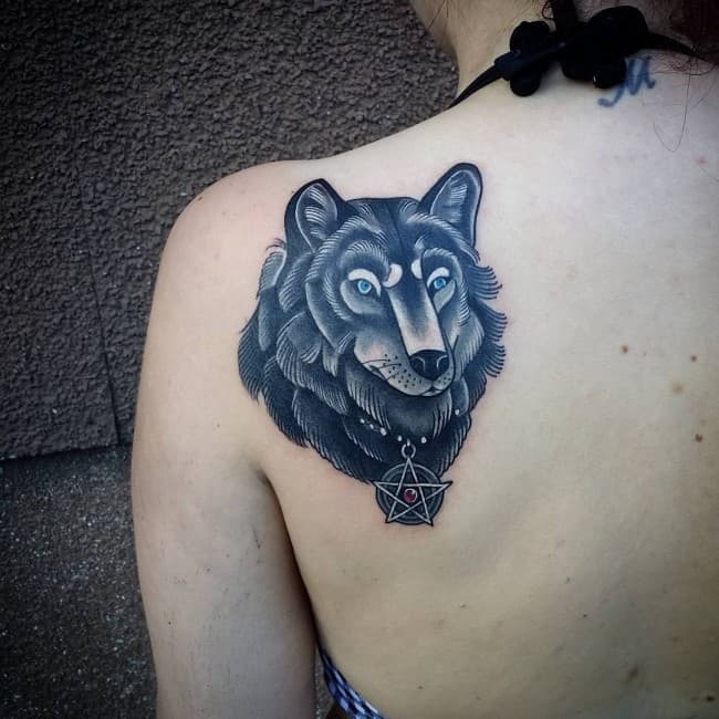 Wolf Tattoo Design Ideas For Men And Woman: 150 Inspiring Wolf Tattoos And Their Meanings [2017