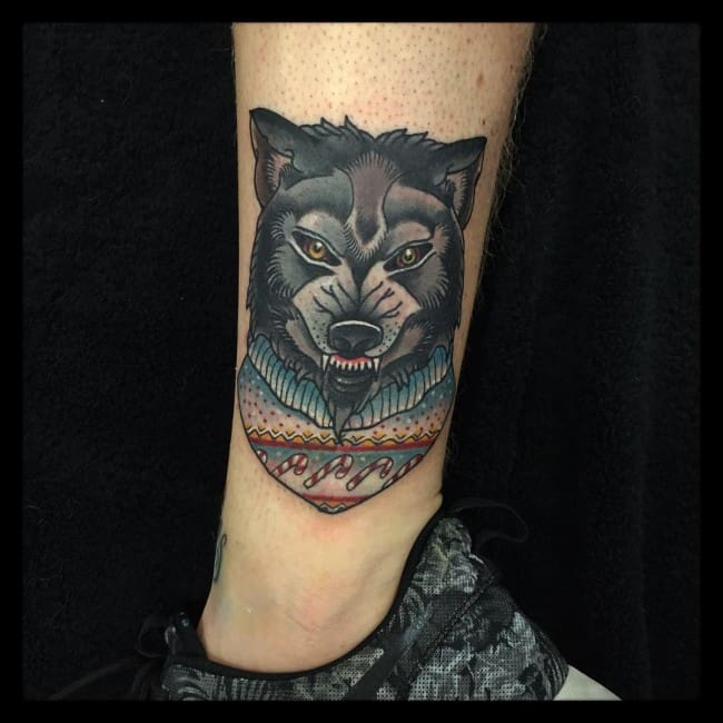 150 inspiring wolf tattoos and their meanings april 2018. Black Bedroom Furniture Sets. Home Design Ideas