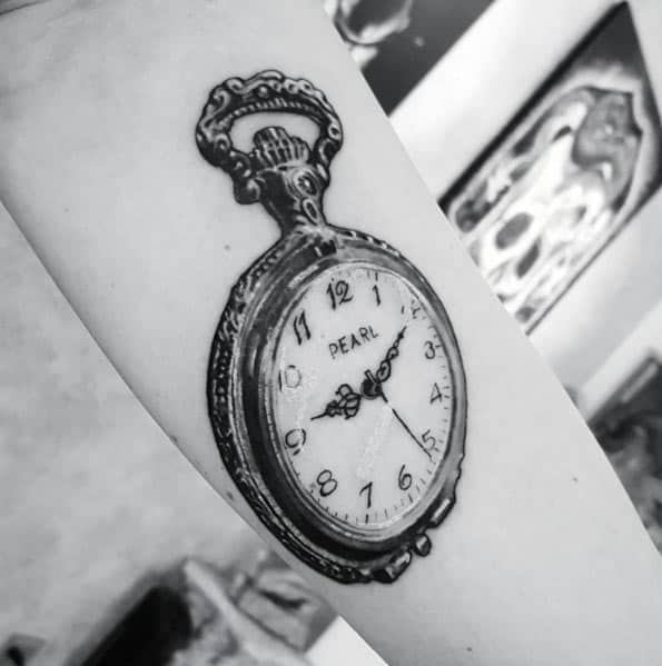 Pocket Watch Tattoo by Ian Miller