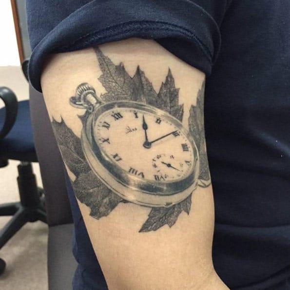 Pocket Watch Tattoo by Ael Lim