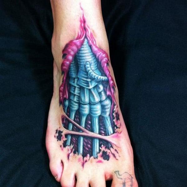 3D Cyborg Tattoo