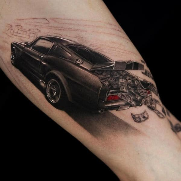 3D Car Tattoo