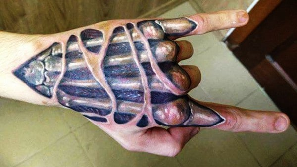 3D Hand Tattoo Designs