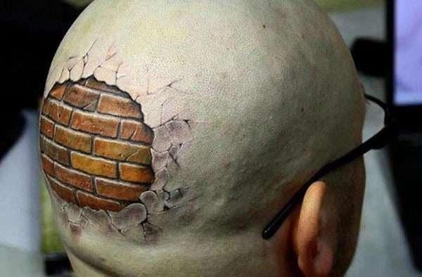 3D Head Tattoo