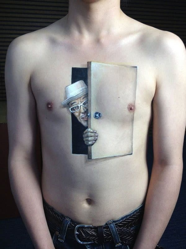 3D Tattoo On Chest