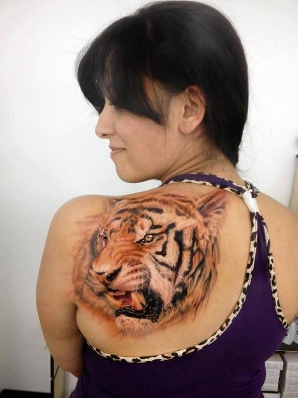 3D Tiger Tattoo
