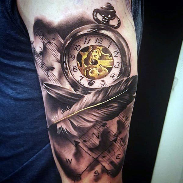 200 Popular Pocket Watch Tattoo And Meanings 2017 Collection Part 3