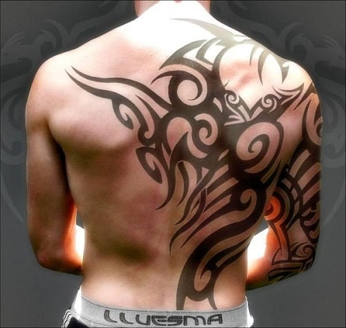 Amazing Back Tribal Tattoos