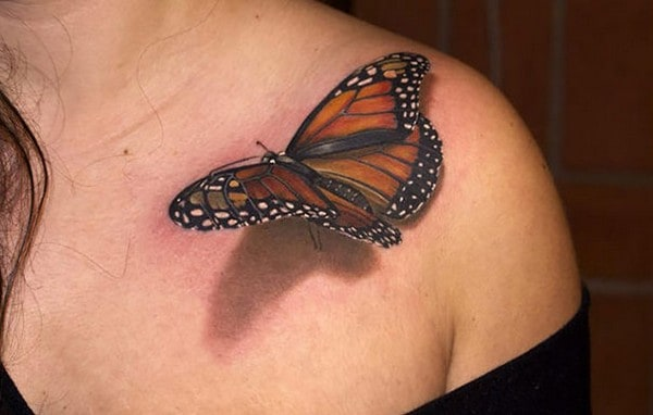 3d tattoo of butterfly