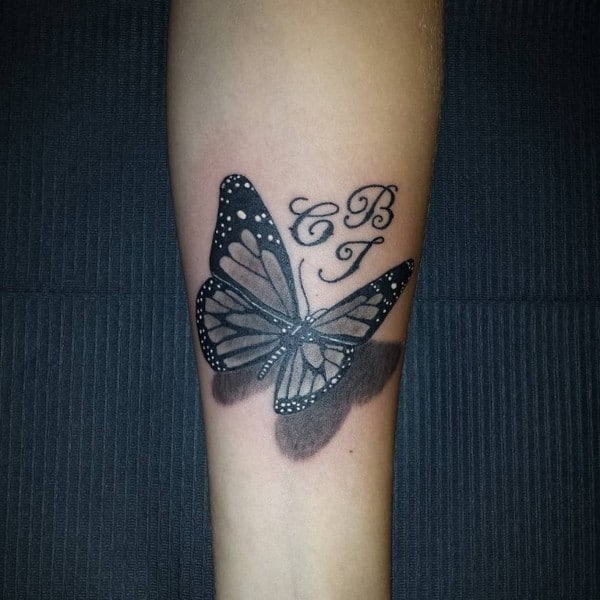 Black Butterfly 3D Tattoo