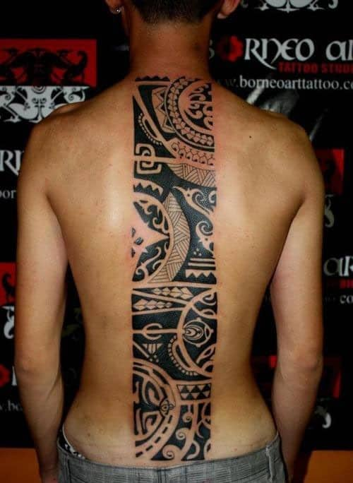 Cool Back Tribal Tattoos