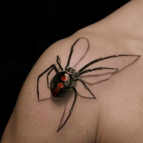 3d crawling spider tattoo